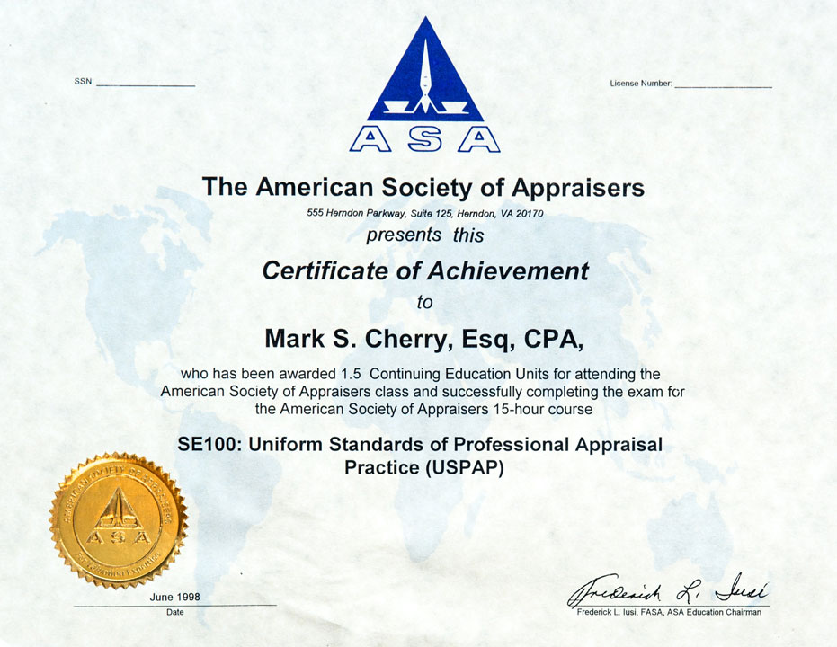 The American Society of Appraisers