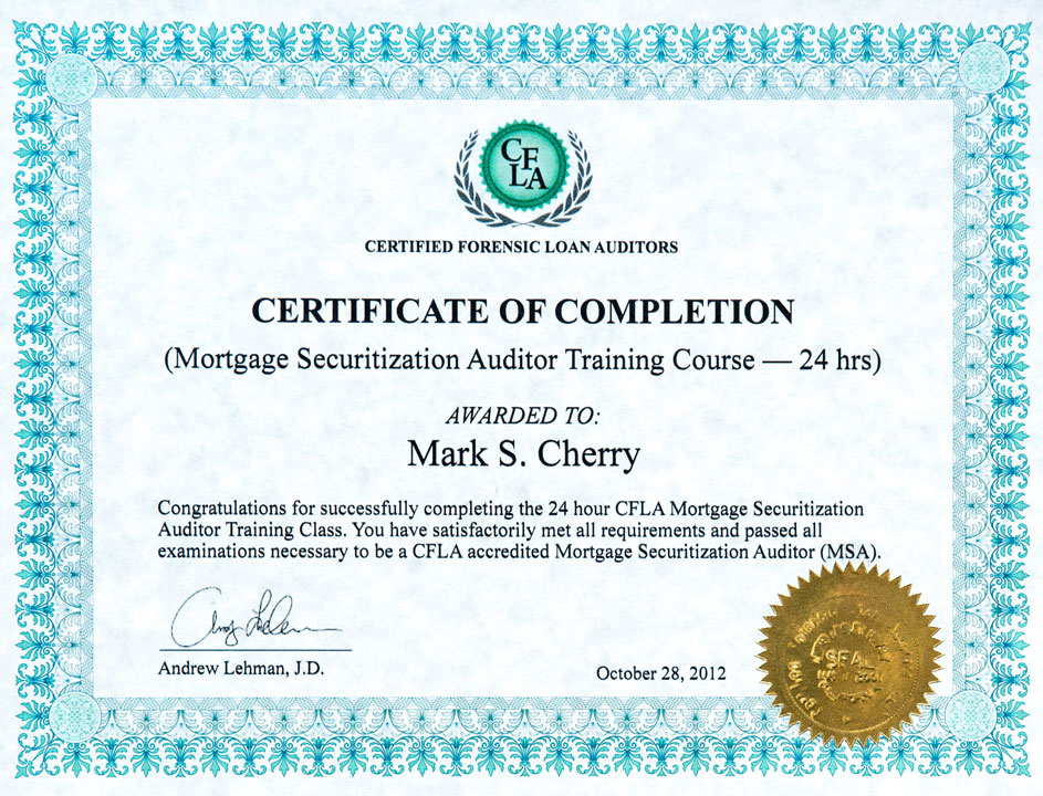 Certified Forensic Loan Auditors